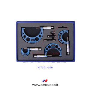 Set Micrometri per esterni centesimale - 6pz, campo 0-150/0,01mm