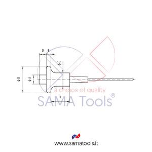 Sonda tipo PT13 alte temperature, Diam. 14mm, Campo 4...80mm Compatibile Spessimetri serie SAUT300/310/350