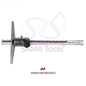 Digital caliper 3 functions with double hook for groove measurement