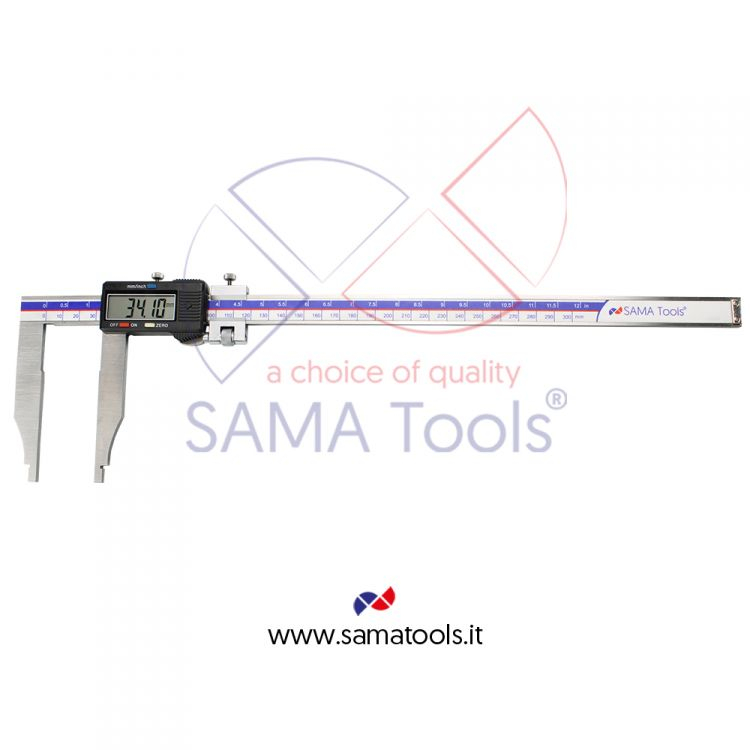 Stainless steel digital caliper without jaws reading 0,01 with fine adjustment