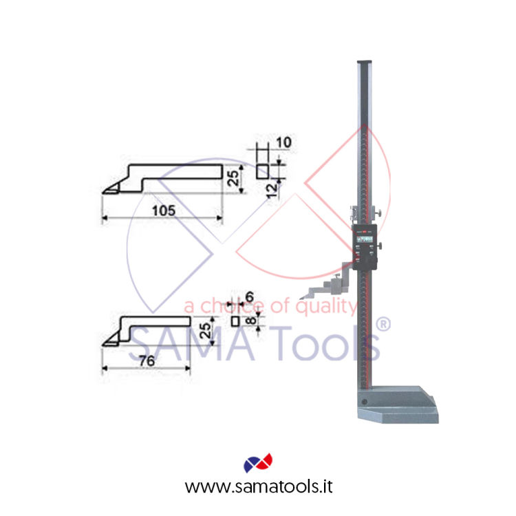 High precision digital height gauges with fine adjustment reading 0,01