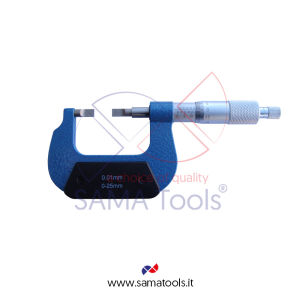 Micrometro da esterni con contatti piatti per misura cave e alberi scanalati - Campo 75-100/0,01mm