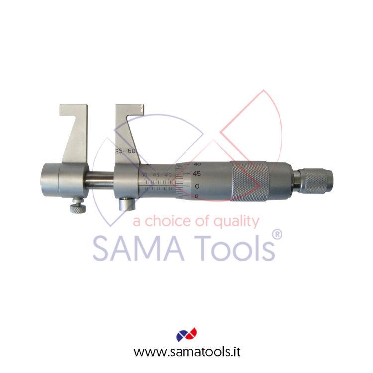 Micrometro per interni con becchi, contatti in metallo duro - Campo 75-100/0,01mm