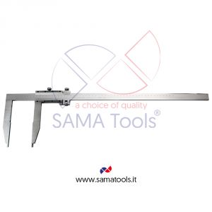 Vernier caliper without upper jaws with fine adjustment reading 0,02mm