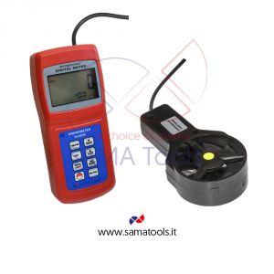 Termoanemometro Digitale con sensore a Ventola