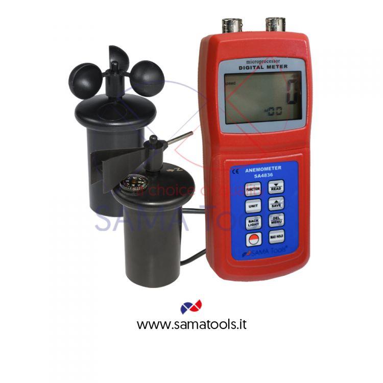 Termoanemometro Digitale con sensore a banderuola