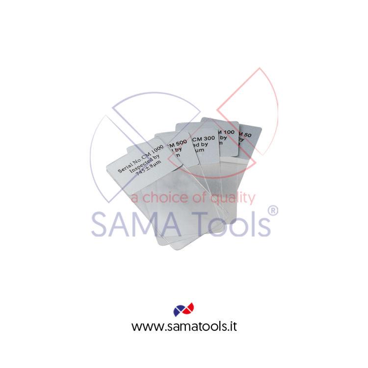 Set spessori 4pz di calibrazione per Spessimetro Vernici & Rivestimenti