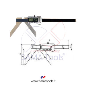 Arc outside digital caliper