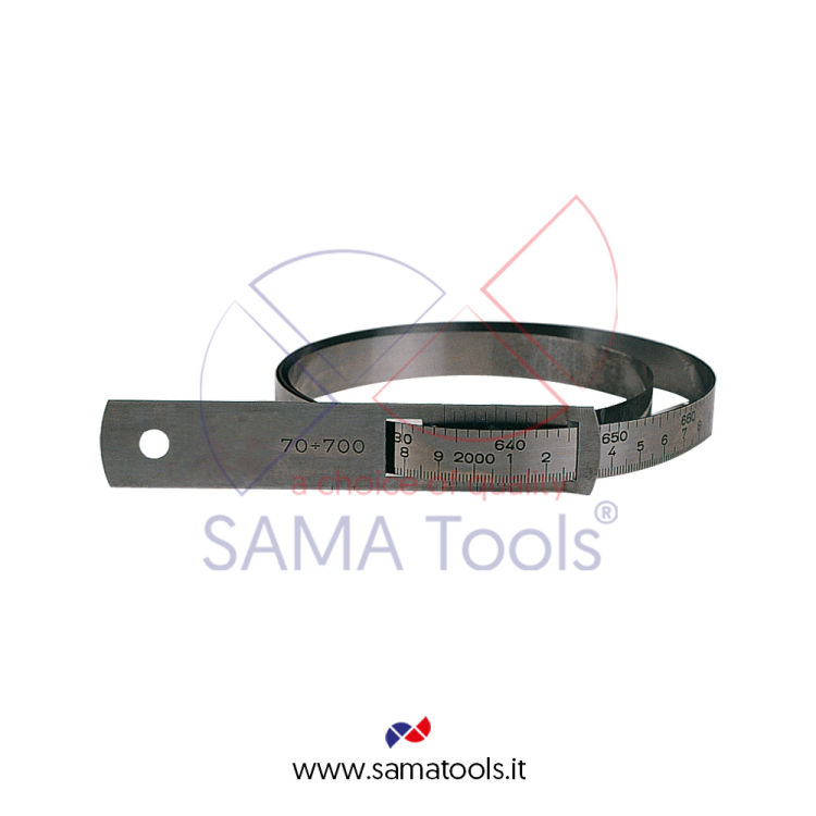 Circumference tape stainless steel read 0,1mm