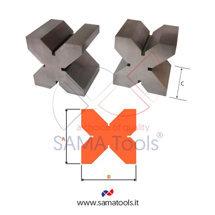 Carbon steel parallel vee blocks pair C45 DIN876