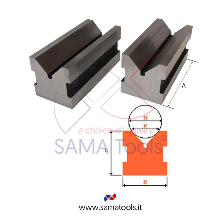 Coppia prismi 90° in acciaio indeformabile C45 DIN876 Toll. 1/100 - 75X40X40mm