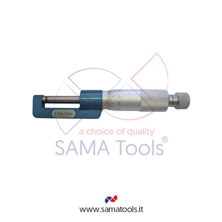 Micrometro per sezioni ridotte e sconnesse centesimale - Campo 0-25/0,01mm