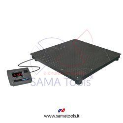 Bilance con piattaforma di pesatura a quattro celle in acciaio verniciato e indicatore WS-WT