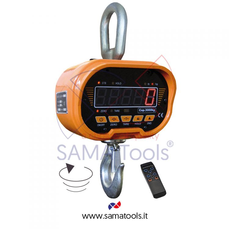 Digital crane scale with swivel hook