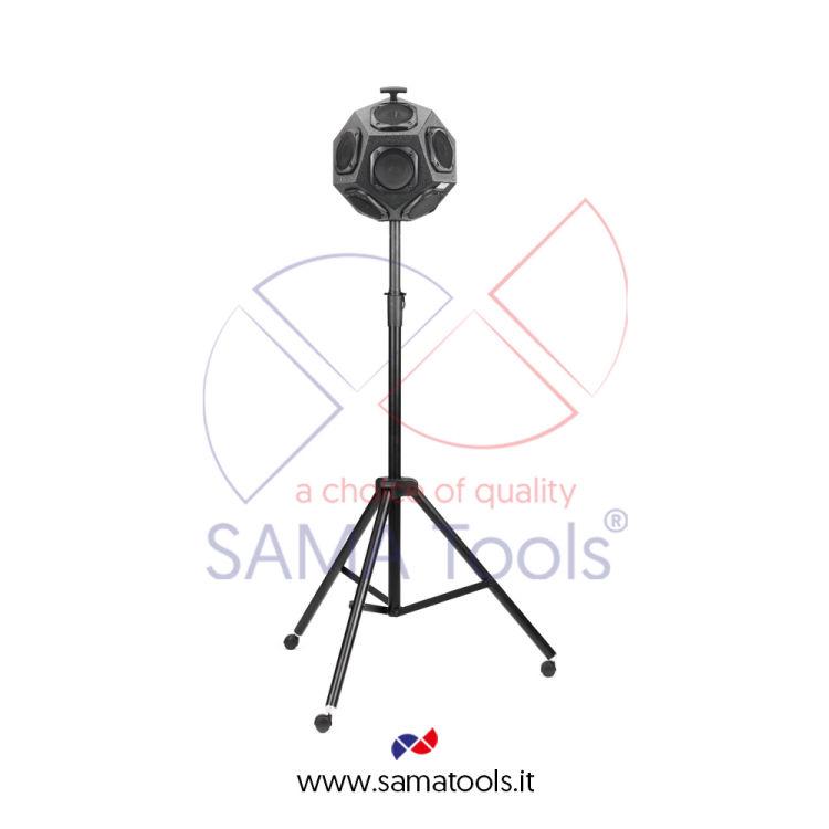 Sorgente sonora dodecaedrica conforme alle norme ISO 140-3 e ISO 3382.