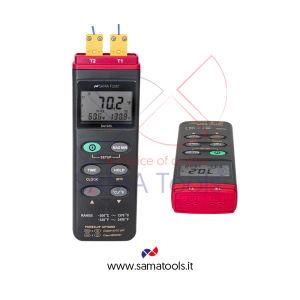 Termometro Digitale Professionale tipo K doppio canale
