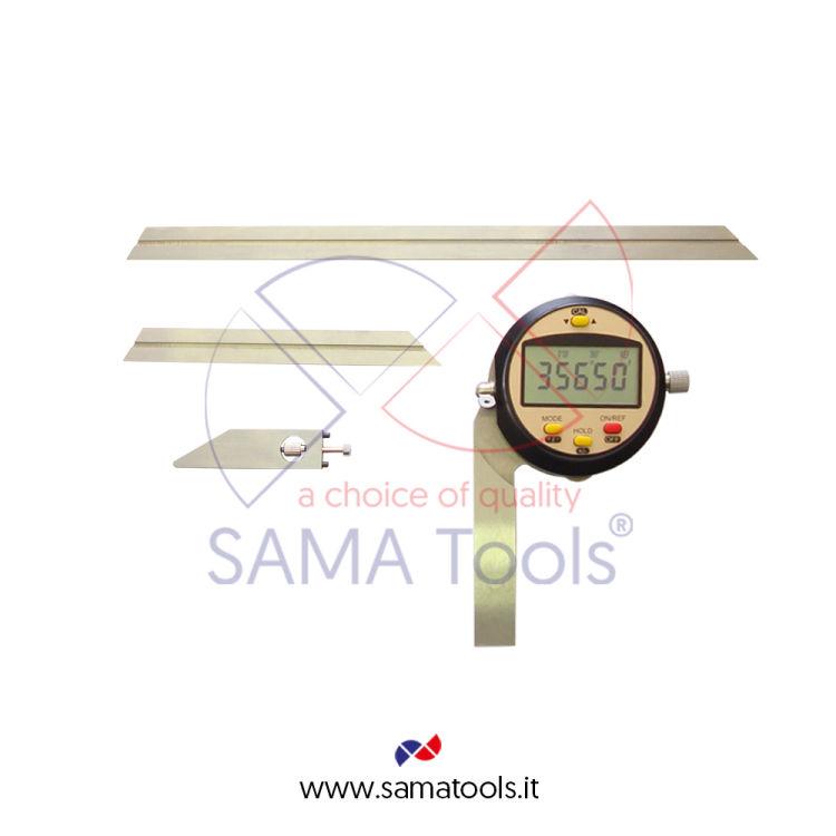 Goniometro Digitale Squadra 150/300mm, range +/-360°, prec. +/-4', ris. 1'/0,01°