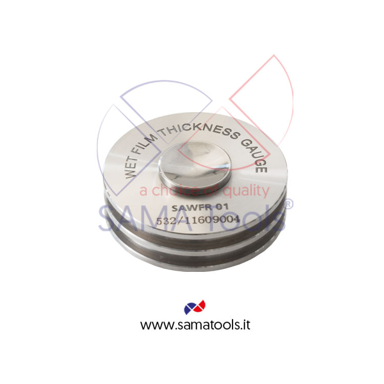 Rolling wheel wet film thickness gauges