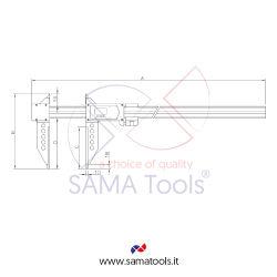 High quality carbon fiber digital caliper