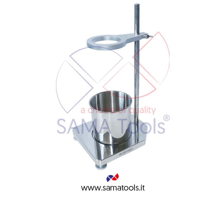 Stand for flow cup in stainless steel