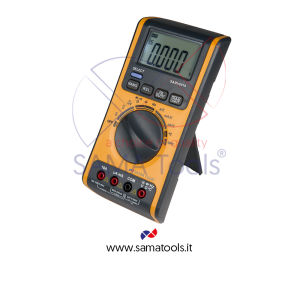 Digital multimeter, range: voltage 0,1mV...1000V AC/DC, current 0,1uA...10A AC/DC, resistance 0,10hm...40MOhm