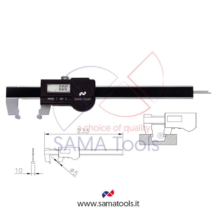 Calibro Digitale IP67 per misurazioni coniche con elettronica Sylvac e uscita dati - Utile 150/10-150/0,01mm