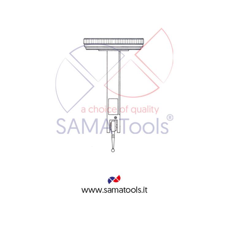 Tastatore girevole KAFER bimillesimale D40 - Campo 0-0,2/0,002mm L=12,8mm form C