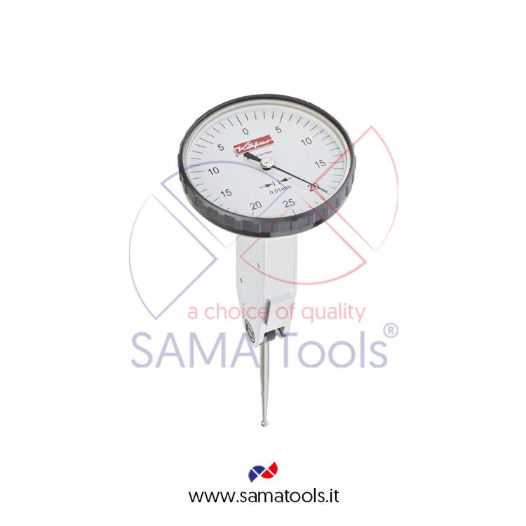 Tastatore girevole verticale KAFER centesimale D40 - Campo 0-0,5/0,01mm L=35,7mm form C