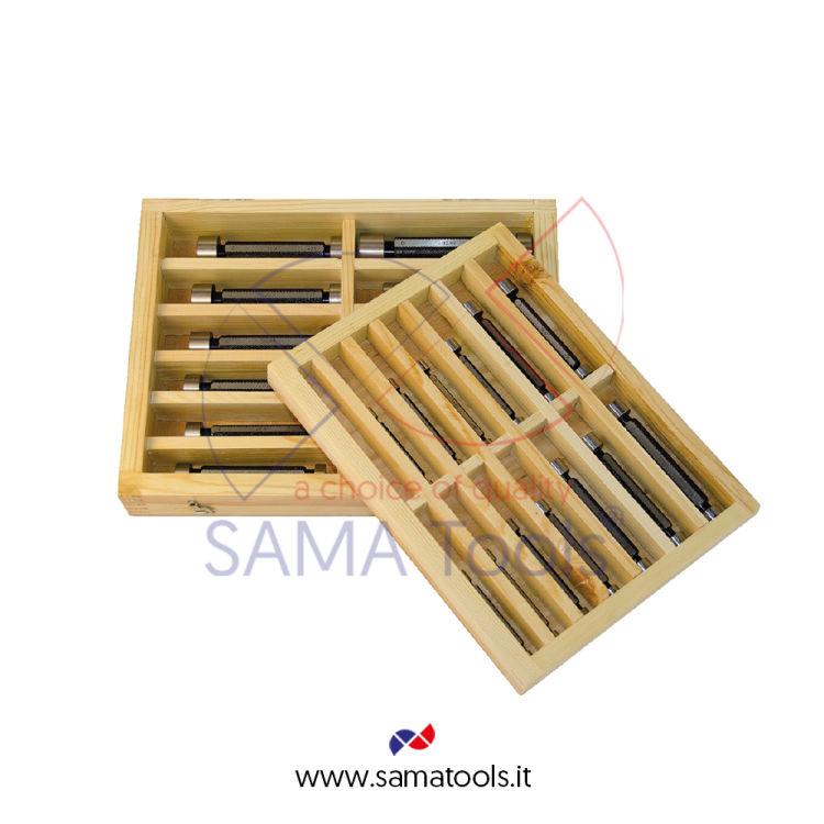 Set 15 tamponi lisci P/NP H7. Dal 34 al 60mm (34-35-36-38-40-42-44-45-46-48-50-52-55-58-60)