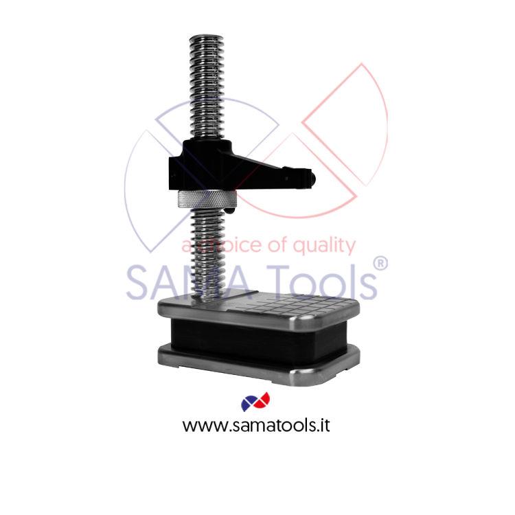 Stativo porta comparatore in acciaio INOX 150x100mm H=220mm