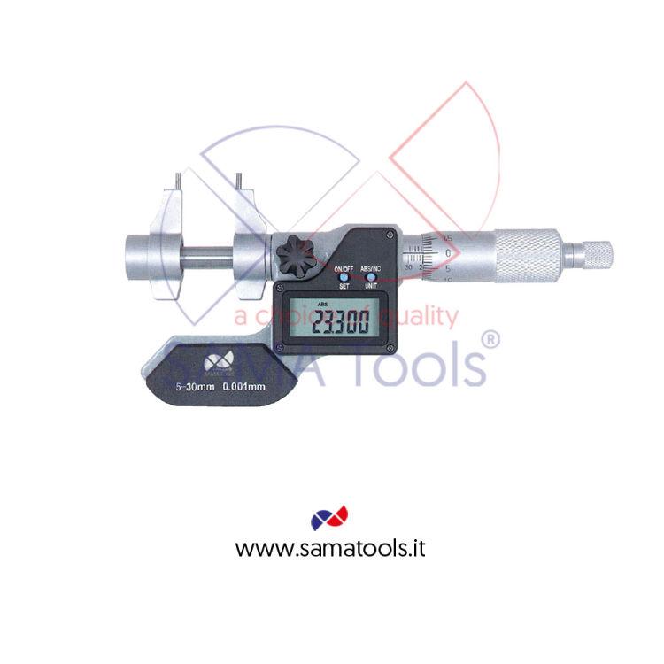Digital inside micrometer reading 0,001mm