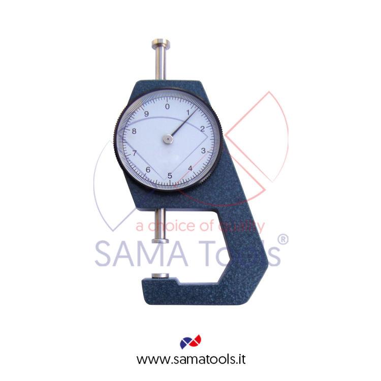Spessimetro Misuratore di Spessori Corsa 20mm Piattelli Diam.10mm Lett. 0,1mm