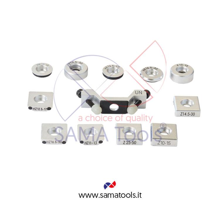 Set Anelli Adattatori superfici Concave e Convesse  (12pz)  per Durometri a Rimbalzo