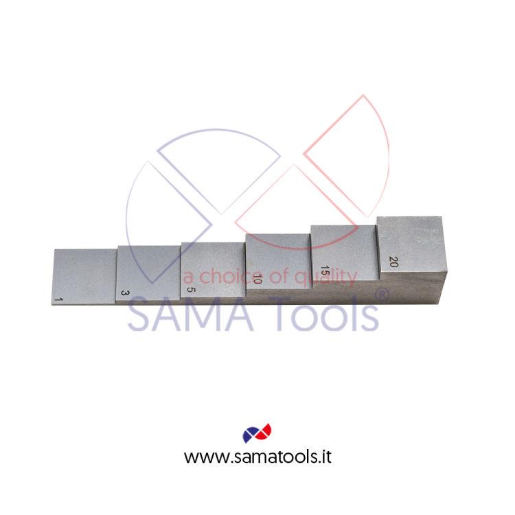 Master di calibrazione 6 step - (1-3-5-10-15-20mm) per misuratore Spessori Ultrasuoni