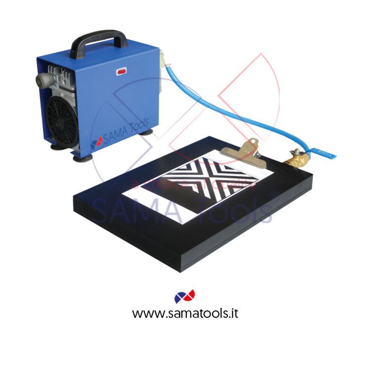 Drawdown plates with vacuum pump