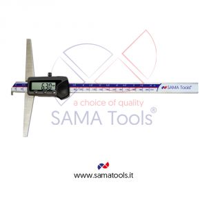 Digital caliper 3 functions with hook for groove measurement