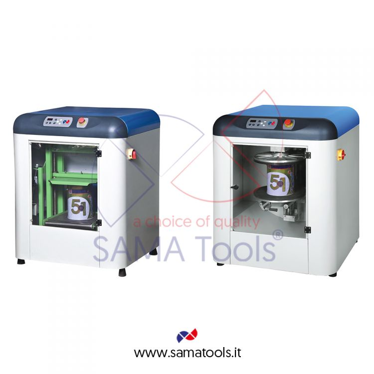CLOSED PAINT MIXER AND SHAKER