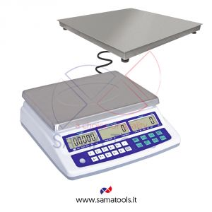 Counting scales with stainless steel remote 4 cell platform