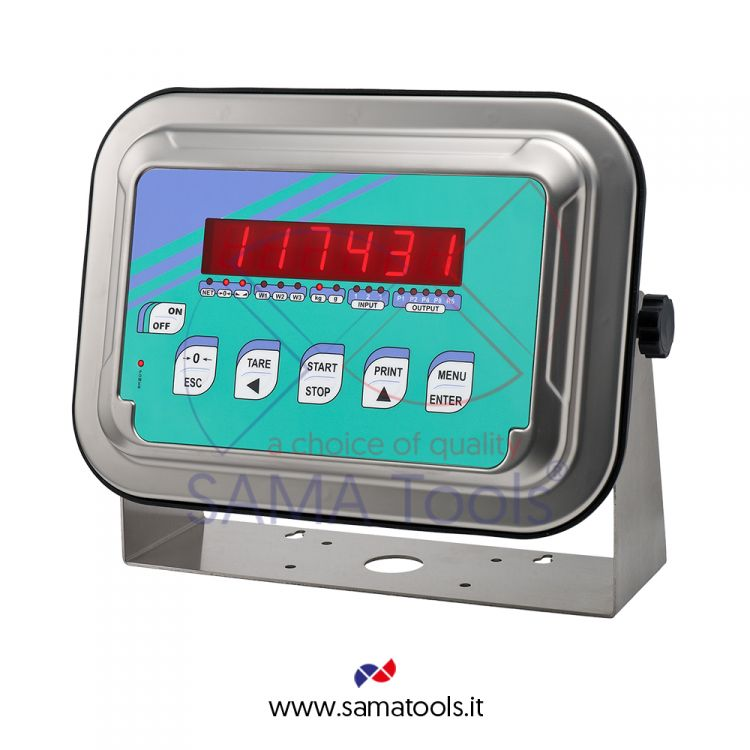 Stainless steel weight indicator