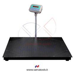 Bilance con piattaforma di pesatura a quattro celle in acciaio verniciato e indicatore WS-WL