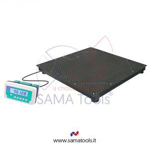 Bilance con piattaforma di pesatura a quattro celle in acciaio verniciato e indicatore WS-WDL
