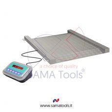 Bilance con piattaforma di pesatura a rampa integrata