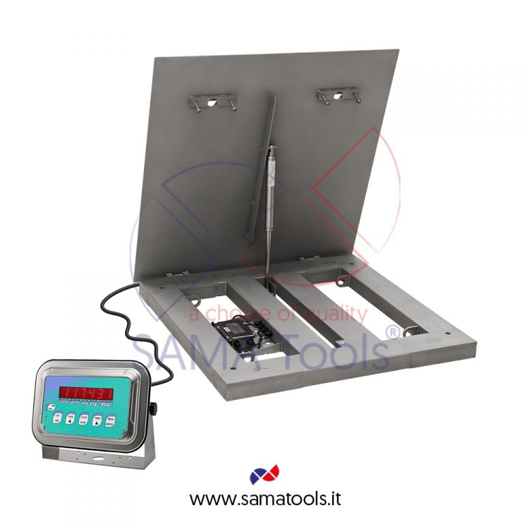 Ispectionable stainless steel scales with four cell platform