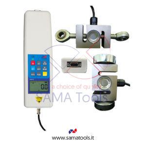 Dinamometro Digitale Portatile in Trazione/Compressione, Cella di carico esterna - campo 5KN/500Kg