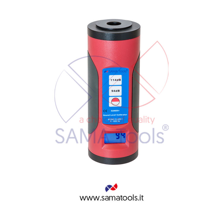 Sound level meter calibrator with LCD display