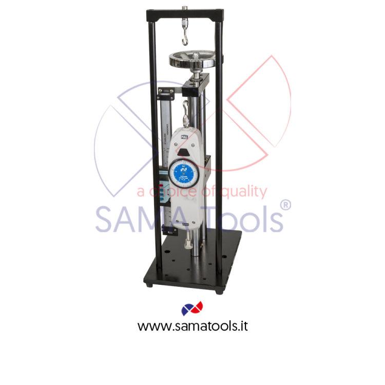 Stativo verticale ad azionamento manuale di precisione per dinamometri analogici