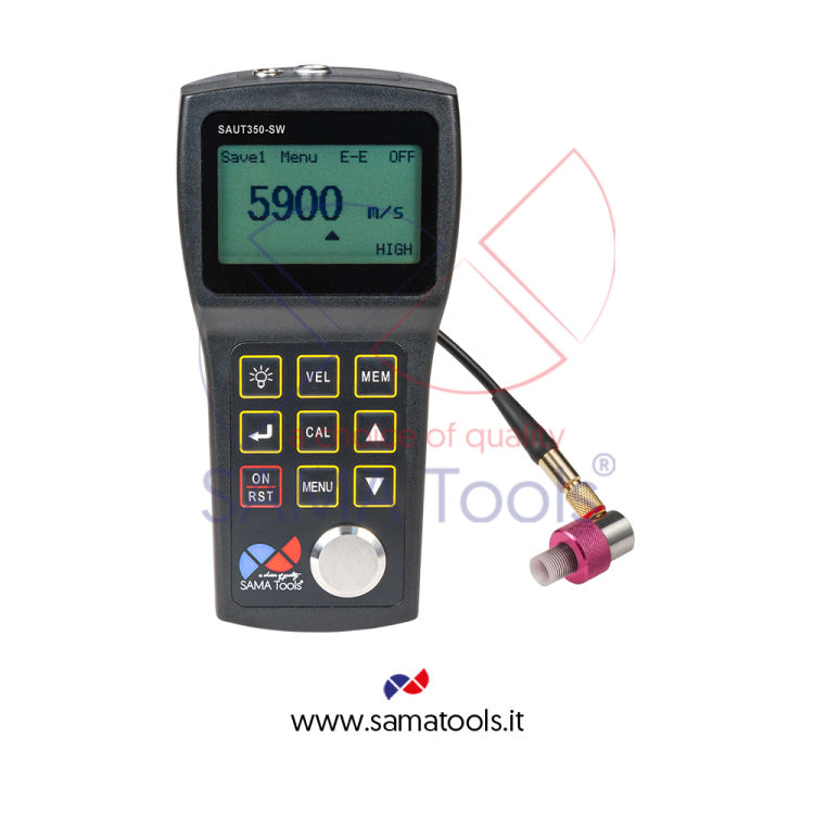 "Ultrasonic thickness gauge ""EchoEcho Mode"" Range 0,15...10/1,5...20 mm res. 0,1 / 0,01 / 0,001mm"