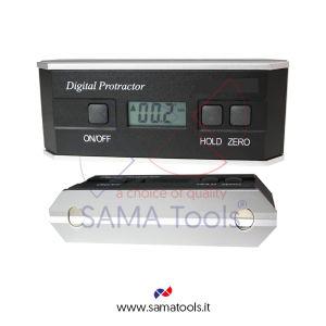 Livella elettronica in alluminio 4x90° (0-360°) Ris. 0,1° Prec. 0,2°