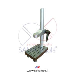 Stativo porta comparatore in acciaio Base 130x90mm H=230mm