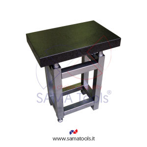 Granite inspection surface plate including table